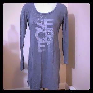 Victoria's Secret Grey Sleep shirt M